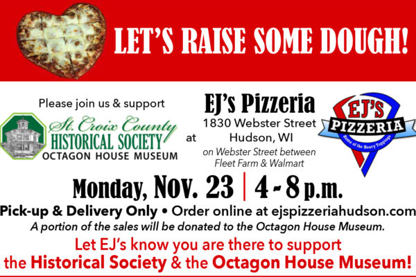EJs Pizza Fundraiser Nov 23rd